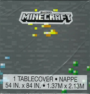 MINECRAFT Birthday Party Plates Napkins Cups Tablecover Banner Stampers