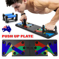 9 in1 Push Up Board Rack Fitness Workout Train System Gym Exercise Pushup Stands