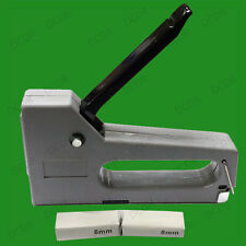 Grey Staple Gun With 200, 100x 6mm & 8mm Staples Home Office Tacker Lightweight