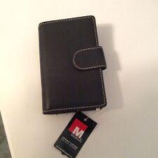Mundi Black Genuine Leather Clutch Wallet NWT!