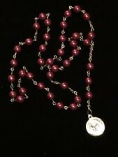 Chaplet of the Holy Face of Jesus - Handmade - 8mm Red Pearl Style Beads (Glass)