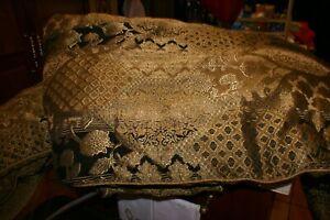 Croscill CAMPAGNIA Queen Comforter Set BLACK/GOLD/TAN 2 SHAMS,SKIRT,PILLOW