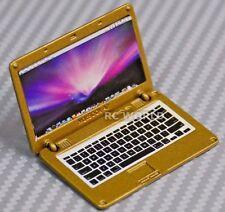 RC 1/10 Scale ACCESSORIES  METAL APPLE LAPTOP MAC BOOK Gold