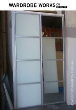2 Built-In Wardrobe Sliding Doors *Made to Measure*Up to 2400 wide FROSTED GLASS