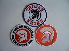 3 Skinhead Trojan Music Patches Iron / Sew On Patch Ska Mod