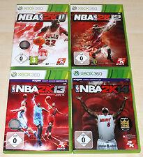 4 XBOX 360 SPIELE SAMMLUNG NBA 2K11 2K12 2K13 2K14 - BASKETBALL JAY Z --- (2K15)