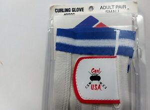Winter Olympics Team USA Champion Curling Gloves #9986 Adult Sz S NOS