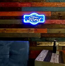 """Ford LED Neon Lighted Sign, 17"""" Marquee Shape For Home, Garage, Bar, or Man Cave"""