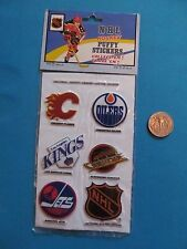 83-84 PUFFY FLAMES OILERS KINGS CANUCKS JETS NHL HOCKEY STICKER DECALS MOC