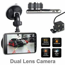 HD Dual Lens Car DVR Dash Cam Video Recorder Night Vision RearView Camera
