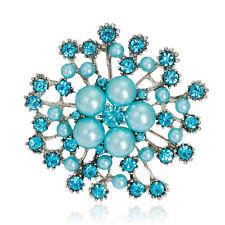 Fashion Women Top Unique Females Rhinestone Pearls Brooch Pin Jewelry Gift