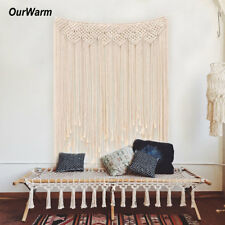 Large Macrame Curtain Wall Hanging Tapestry DIY Photo Backdrop Boho Home Decor