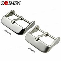 14 - 24mm Stainless Steel Watch Bands Clasp Silver Pin Buckle Watch Accessories