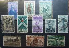 1950  ITALIA  20 lire  Radiodiffusione + 10  francobolli   Usati