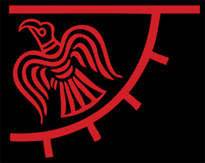 Large Odinicraven Viking Flag Odinic Norse Odins Raven Flags Banner