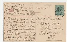 Reigate 1904 Single Ring Cancel on High Holborn London Postcard, A820