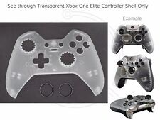 New Xbox One Elite transparent/clear black rings Controller Front Shell custom
