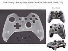 NUOVA Xbox One Elite TRASPARENTI/CLEAR Nero Anelli Controller ANTERIORE SHELL personalizzato