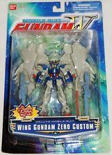 "2000 Bandai Mobile Suit Gundam Wing ZERO CUSTOM 4.5"" Deluxe Figure #11604 *MOC*"