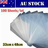AU Stock 33cm x 48cm Waterproof Inkjet Milky Transparency Film - 100 Sheets/Lot