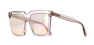 Tom Ford SABRINA-02 FT 0764 Transparent Grey/Pink Gold Mirror (20Z) Sunglasses