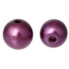 Lot 20 Perle imitation 8mm Violet Pour vos creation Bijoux, Collier, Bracelet..