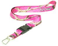 Paradise Pink Camo Neck Lanyard With Quick Release Key Holder Realtree