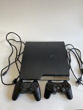 Sony PlayStation 3 - Slim 160GB Black Console, With 4 Games (Read Description)