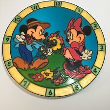 "10"" Disney Mickey Minnie Mouse Wall Clock"