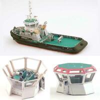 1:100 Scale Poland Tug Boat Ship DIY Handcraft Paper Kit HOT SALE Model Y6I7