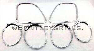 Bentley Flying Spur Chrome Headlight & Tail Light Bezel Trims