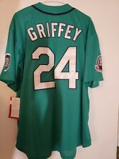 Ken Griffey Jr. aqua Seattle Mariners throwback jersey (1995)