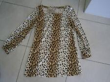 BASQUE Dress MINI sz 10, dress black brown LEOPARD print.RETRO MOD 70's As NEW