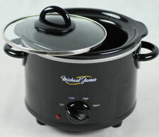 Michael James Slow Cooker 1.5 L Black Removable Ceramic Pot NEXT DAY DELIVERY