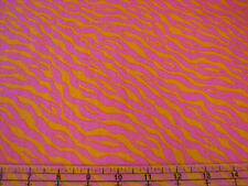 3  Yards Quilt Cotton Fabric - Quilting Treasures Wild Flowers Zebra Pink Orange