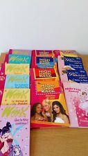 lot 14 livres bibliothèque rose high school musical, Winx, Disney...