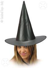 Chapeau de sorcier sorcière plastique souple noir  halloween corso carnaval fete