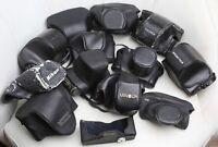 13 étuis pour Réflex 24 x 36 : Fujica, Minolta, Nikon, Pentax, Praktica, Yashica