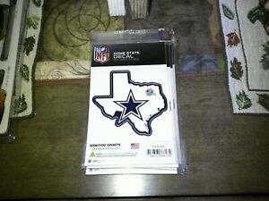 NFL Home State Decal. DALLAS COWBOYS . Siskiyou. Made In The Usa. Peel And Stick