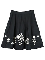 Bonpoint Floral Embroidered Pleated Skirt