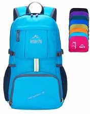 Lightweight Packable Foldable Travel Camping Hiking Outdoor Sports Backpack Blue
