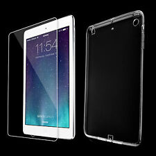 TPU Cover f. iPad Mini 2 3 Tasche Hülle Silikon Schutzhülle + Panzer Glas Folie