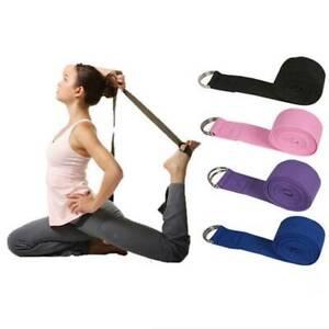 3m Yoga Stretch Strap D-Ring Belt Figure Waist Leg Resistance Fitness Band $S1