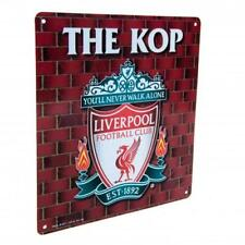 Liverpool FC The KOP Metal Wall Door Sign Collector Souvenir 23cmx25cm