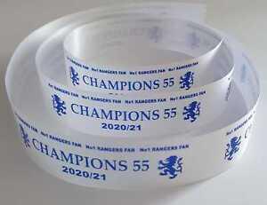 Rangers Champions 55 2020/21 25mm or 38mm Ribbon