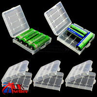 5pcs 14500 AA AAA Battery Case Safe Storage Holder Rechargeable Hard Plastic UK