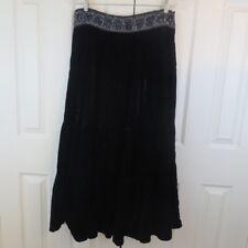 BCBG MAXAZRIA Long Maxi Skirt SMALL Soft Crushed Velvet Banded Sequin Waist $298