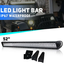 52Inch LED Light Bar Combo Driving Lamp OFFROAD For SUV 4WD Truck Pickup FORD