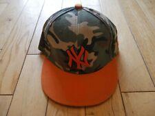 NEW YORK YANKEES BASEBALL CAP FIFTY NINE FIFTY  7 5/8 61 cms  CAMOFLAGUE ORANGE