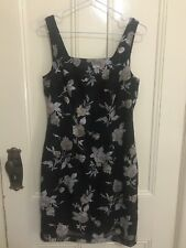 Syndicate black dress with floral print size 10